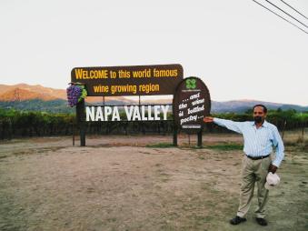 Napa Valley welcoming us :)